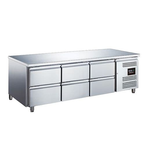 Blizzard SNC3-DRW 6 Drawer Low Height 650mm Snack Counter 317L